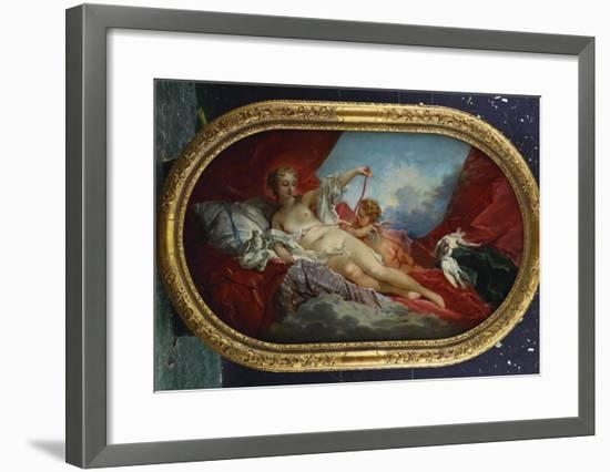 Venus and Cupid-Francois Boucher-Framed Giclee Print