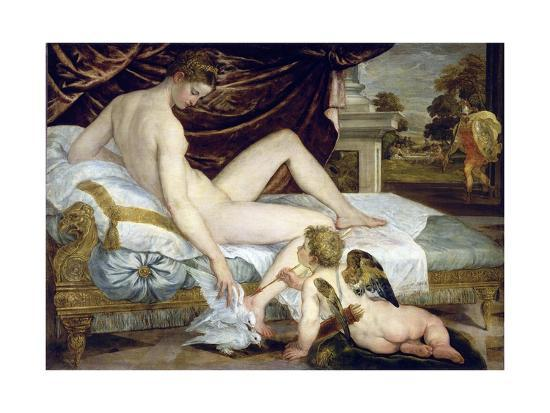 Venus and Love by Lambert Sustris--Giclee Print