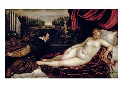 Venus and the Organist, c.1540-50-Titian (Tiziano Vecelli)-Giclee Print
