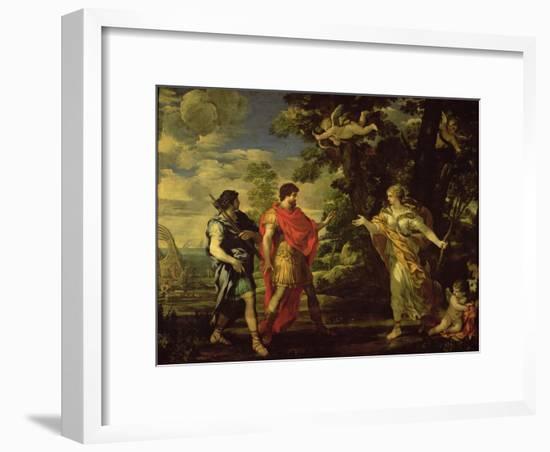 Venus Appearing to Aeneas as a Huntress- Pietro Da Cortona-Framed Giclee Print