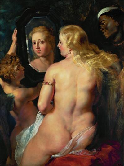Venus Before a Mirror, 1614-15-Peter Paul Rubens-Giclee Print