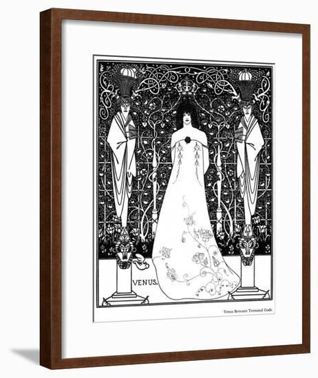 Venus Between Terminal Gods-Aubrey Beardsley-Framed Giclee Print