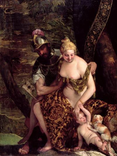 Venus, Cupid and Mars-Veronese-Giclee Print