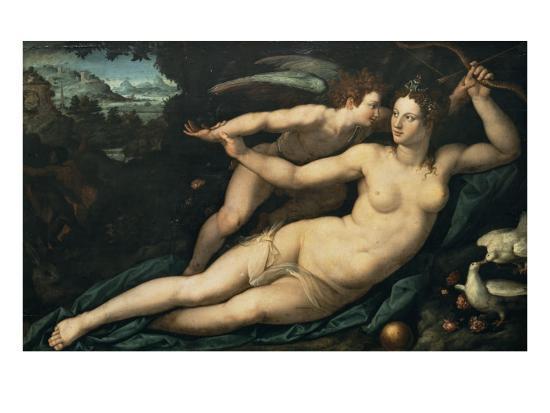 Vénus et l'Amour-Alessandro Allori-Giclee Print