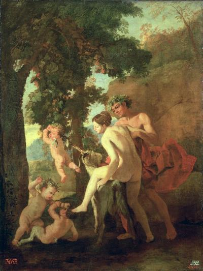 Venus, Faun and Putti, Early 1630s-Nicolas Poussin-Giclee Print