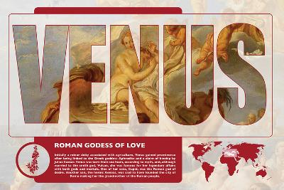 Venus Mythology Poster-Christopher Rice-Art Print