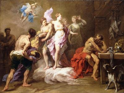 Venus Ordering Arms from Vulcan for Aeneas-Jean II Restout-Giclee Print