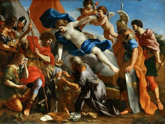 Venus Pouring a Balm on the Wound of Aeneas-Giovanni Francesco Romanelli-Giclee Print