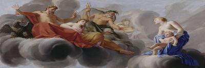 Vénus présente l'Amour à Jupiter-Eustache Le Sueur-Giclee Print