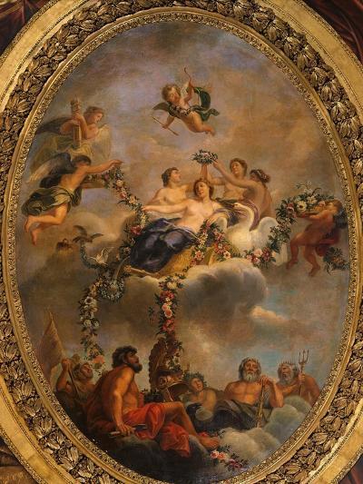 Venus Subjecting the Gods and the Powers to Her Empire, Ceiling, Salon of Venus-Ren? Antoine Houasse-Photographic Print