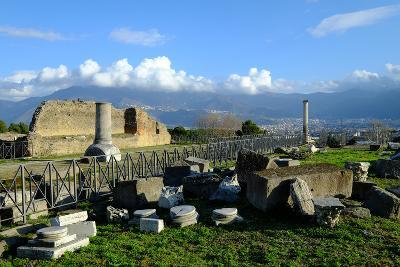 Venus Temple, Pompeii, the Ancient Roman Town Near Naples, Campania, Italy-Carlo Morucchio-Photographic Print