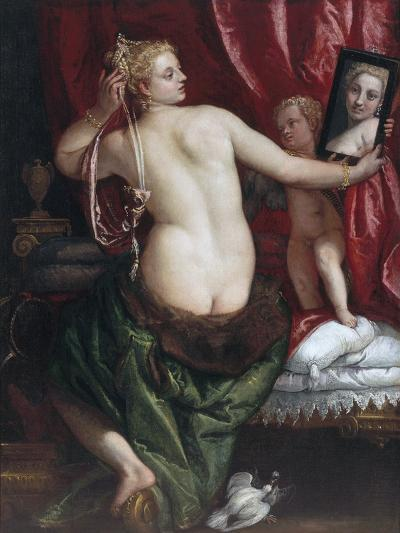 Venus with a Mirror (Venus at Her Toilette) by Paolo Veronese--Photographic Print