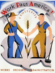New Deal: Wpa Poster by Vera Bock