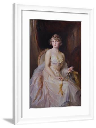 Vera Boscawen, Lady Broughton, 1922-Philip Alexius De Laszlo-Framed Giclee Print