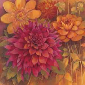 Autumn Dahlias 1 by Vera Hills