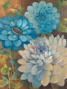 Pretty Blue Dahlias I by Vera Hills