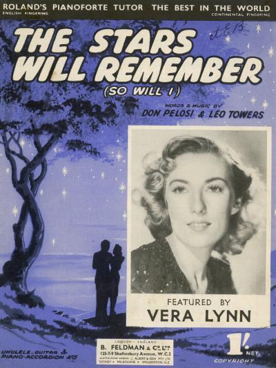 Vera Lynn Popular English Singer: The Stars Will Remember--Photographic Print