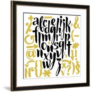 Vector Alphabet. Hand Drawn Letters. Letters of the Alphabet Written with a Brush. by veraholera