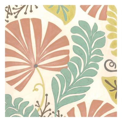 Veranda Floral I-Erica J^ Vess-Art Print