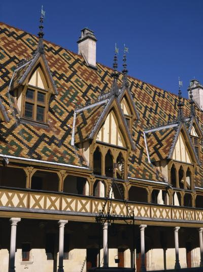 Verandahs and Roof of the Hospices De Beaune on the Cote D'Or, Bourgogne, France, Europe-Charles Bowman-Photographic Print