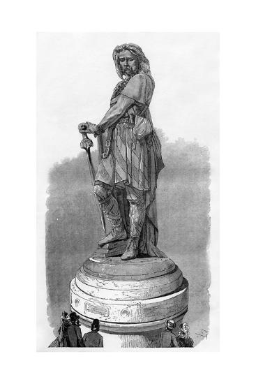 Vercingetorix Memorial at Alesia, Near Dijon, France, 1882-1884-Charaire et fils-Giclee Print