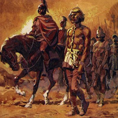 Vercingetorix Put on His Finest Armour and Surrendered--Giclee Print