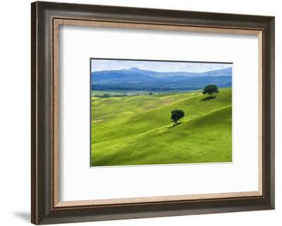 Verdant Knolls of the Tuscan Countryside-George Oze-Framed Photographic Print
