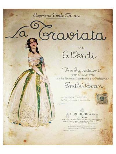 Verdi Opera La Traviata--Art Print