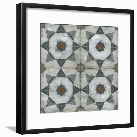 Verdigris Tile II-June Vess-Framed Art Print