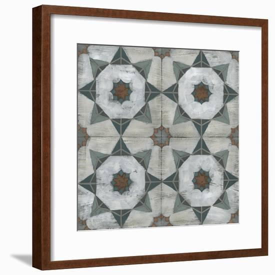 Verdigris Tile II-June Vess-Framed Art Print