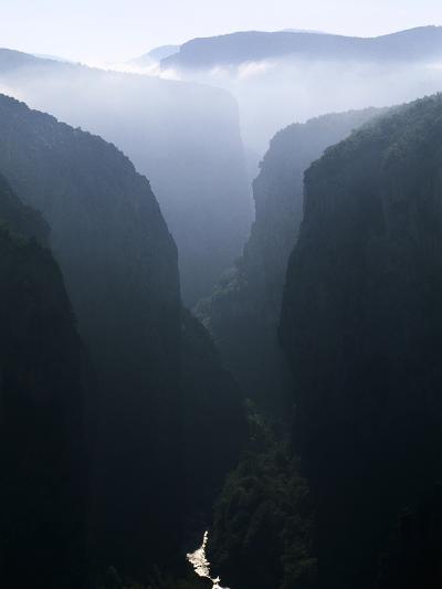 Verdon Canyon Through the Mist-Christophe Boisvieux-Photographic Print