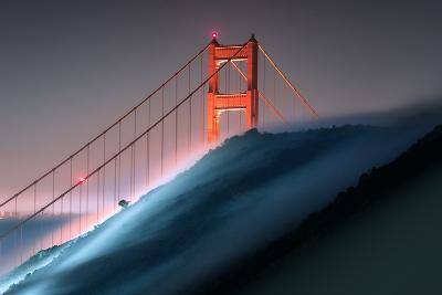 Verge Wide View Unique Fog Flow Hillside Golden Gate Marin Headlands-Vincent James-Photographic Print