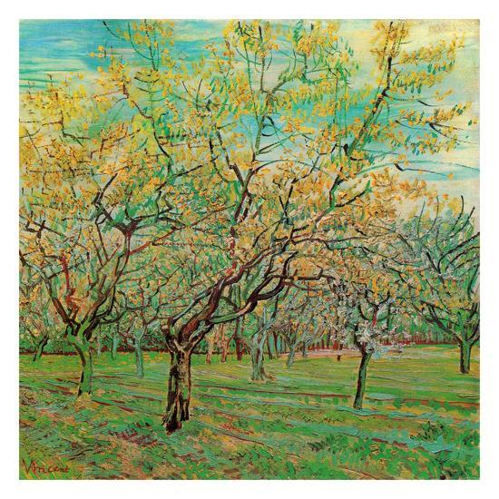 Verger Avec Pruniers En Fleurs-Vincent van Gogh-Art Print
