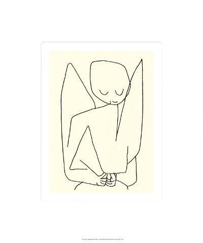 Vergesslicher Engel, c.1939-Paul Klee-Serigraph