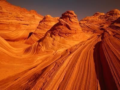 Vermillion Cliffs, The Wave, Grand Staircase Escalante Nationalpark, Arizona, USA-Frank Krahmer-Photographic Print