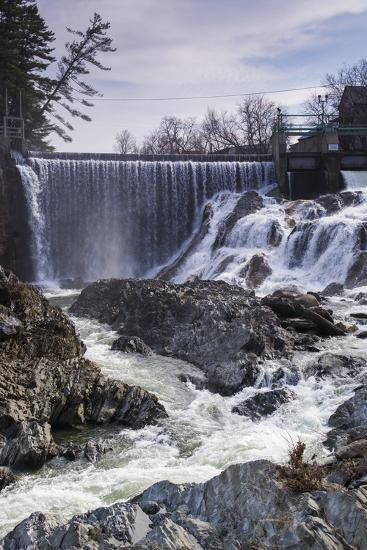 Vermont, Bradford, Waits River Falls, Waterfall and Rapids-Walter Bibikow-Photographic Print