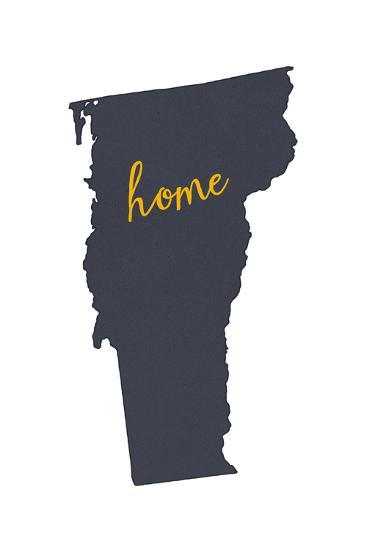 Vermont - Home State - Gray on White-Lantern Press-Art Print