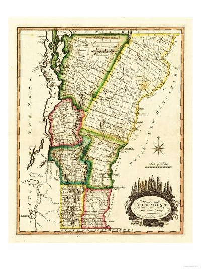 Vermont - Panoramic Map-Lantern Press-Art Print