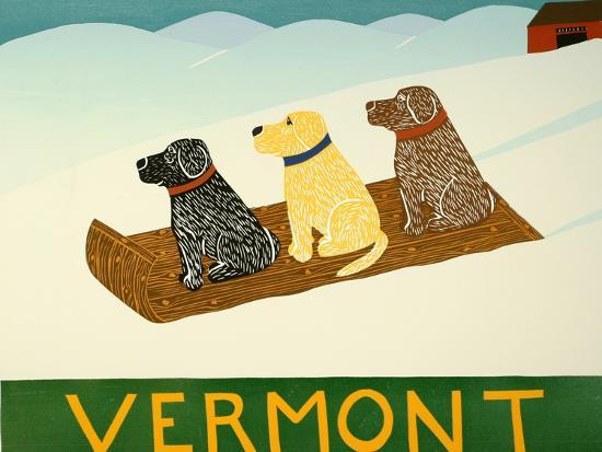 Vermont Sled Dogs-Stephen Huneck-Giclee Print