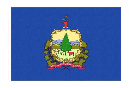 Vermont State Flag-Lantern Press-Art Print