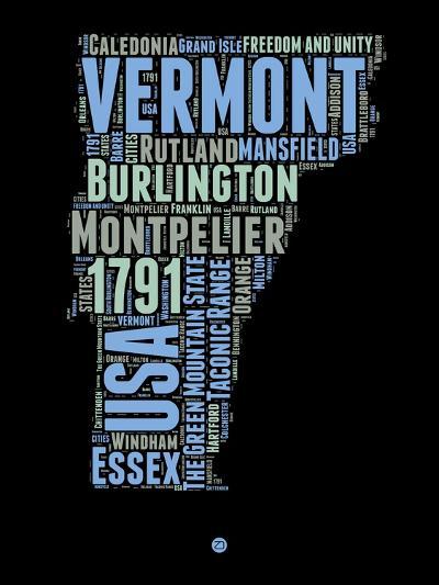 Vermont Word Cloud 1-NaxArt-Art Print