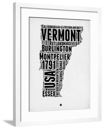 Vermont Word Cloud 2-NaxArt-Framed Art Print