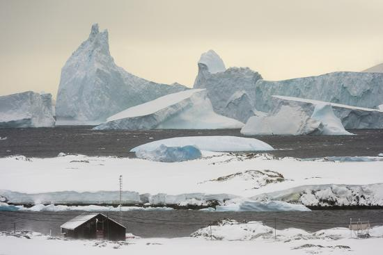 Vernadsky Research Base, the Ukrainian Antarctic station at Marina Point on Galindez Island in the -Sergio Pitamitz-Photographic Print
