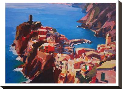 Vernazza Cinque Terre-M Bleichner-Stretched Canvas Print