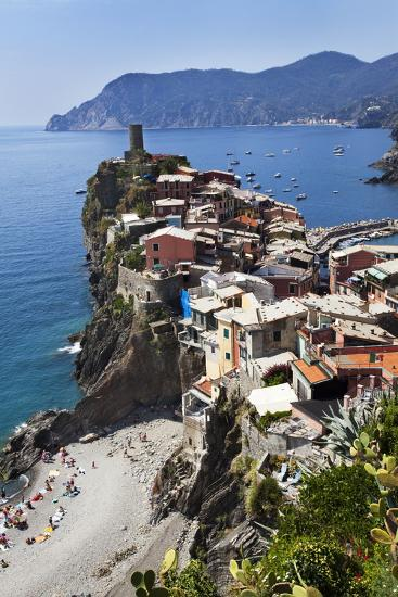 Vernazza from the Cinque Terre Coastal Path-Mark Sunderland-Photographic Print