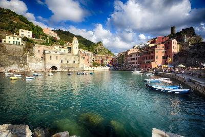 Vernazza Harbor View, Cinque Terre, Italy-George Oze-Photographic Print