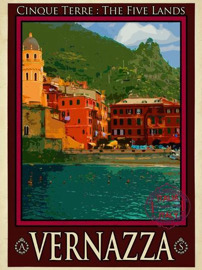 Vernazza Italian Riviera 1-Anna Siena-Giclee Print