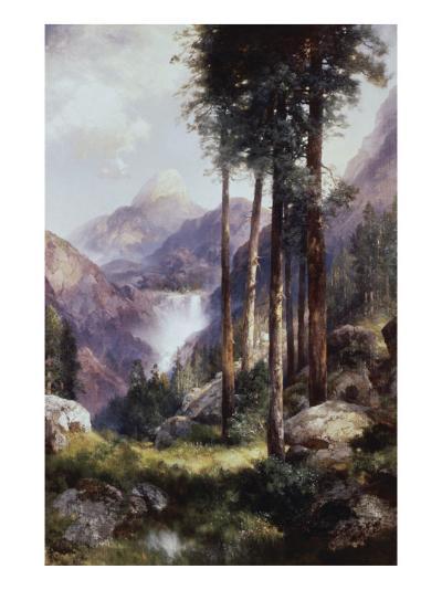 Vernon Falls, Yosemite Valley-Thomas Moran-Giclee Print