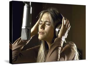 Actress Peggy Lipton in a Recording Studio by Vernon Merritt III