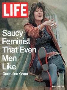 Feminist Germaine Greer, May 7, 1971 by Vernon Merritt III